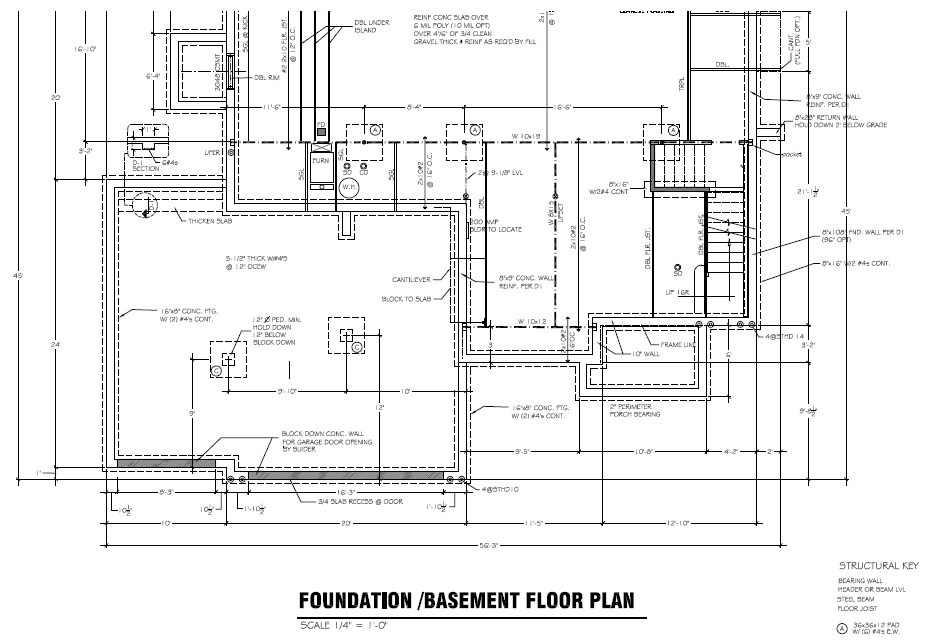 Basement foundation house plans house design plans for Foundation blueprints